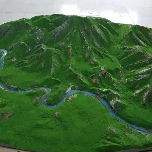 甘肃地形沙盘模型展示